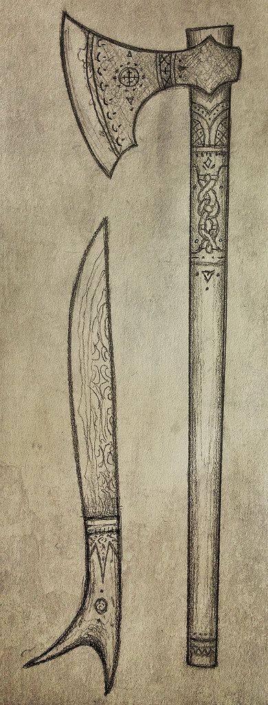 скандинавский боевой топор