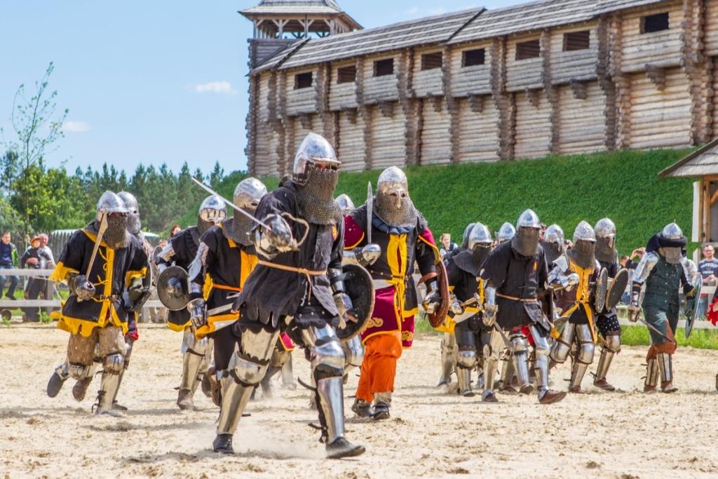 военное состязание рыцарей