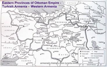 территория армении до 1915 года на карте