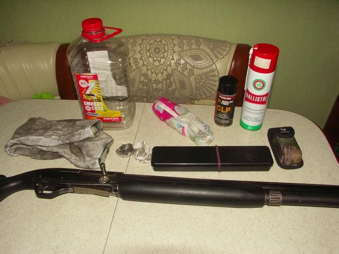 чистка гладкоствольного оружия