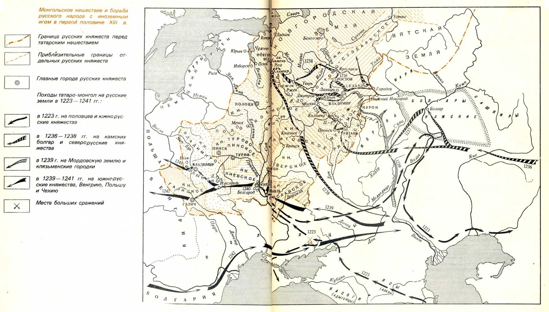 первое сражение русских дружин с монголо татарами