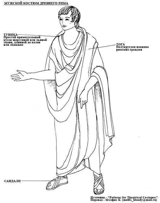 нижнюю одежду в древнем риме называли