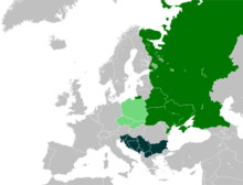 славянские страны на карте