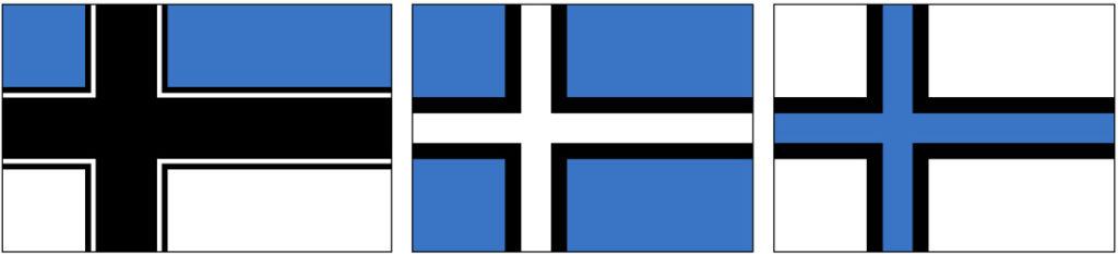 бело синий флаг с крестом