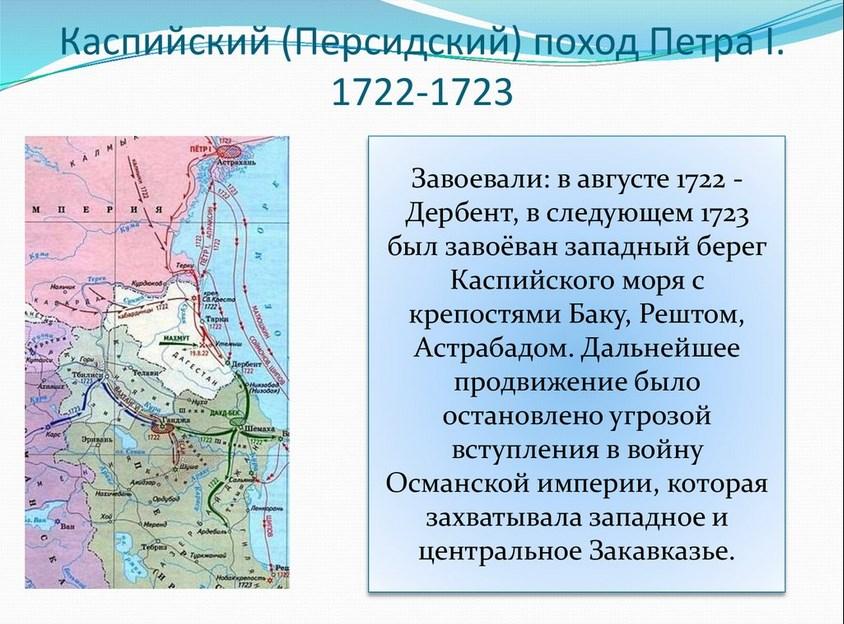 каспийский персидский поход