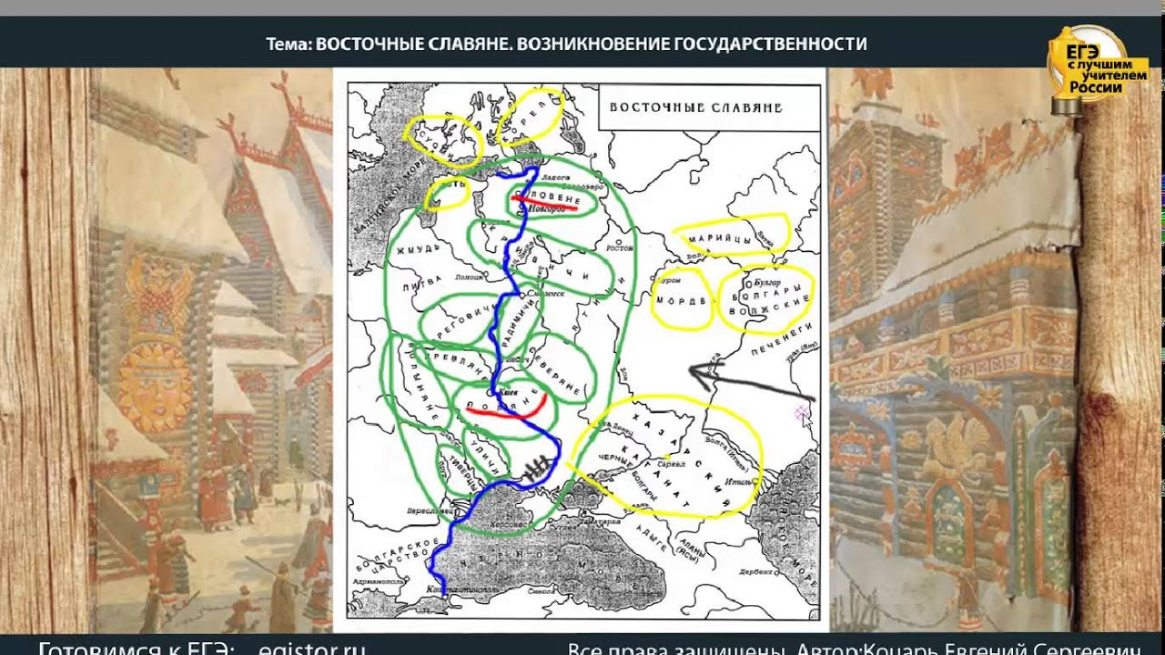 зарождение государственности у восточных славян относится к