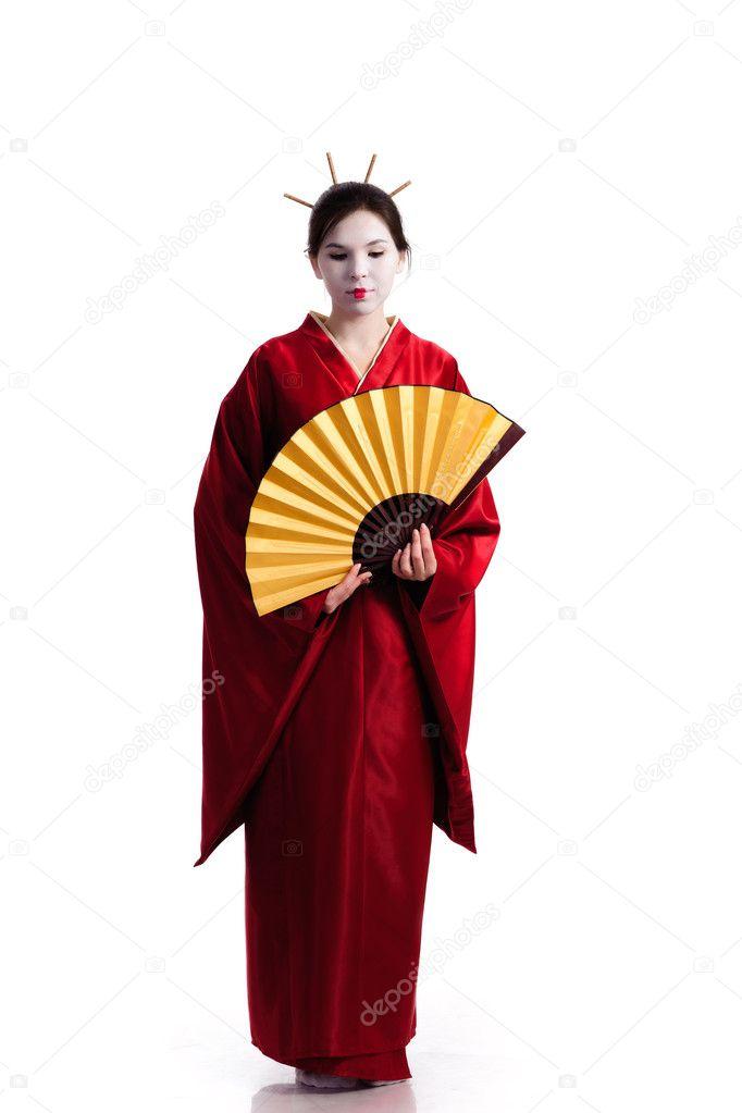 японский национальный костюм рисунок