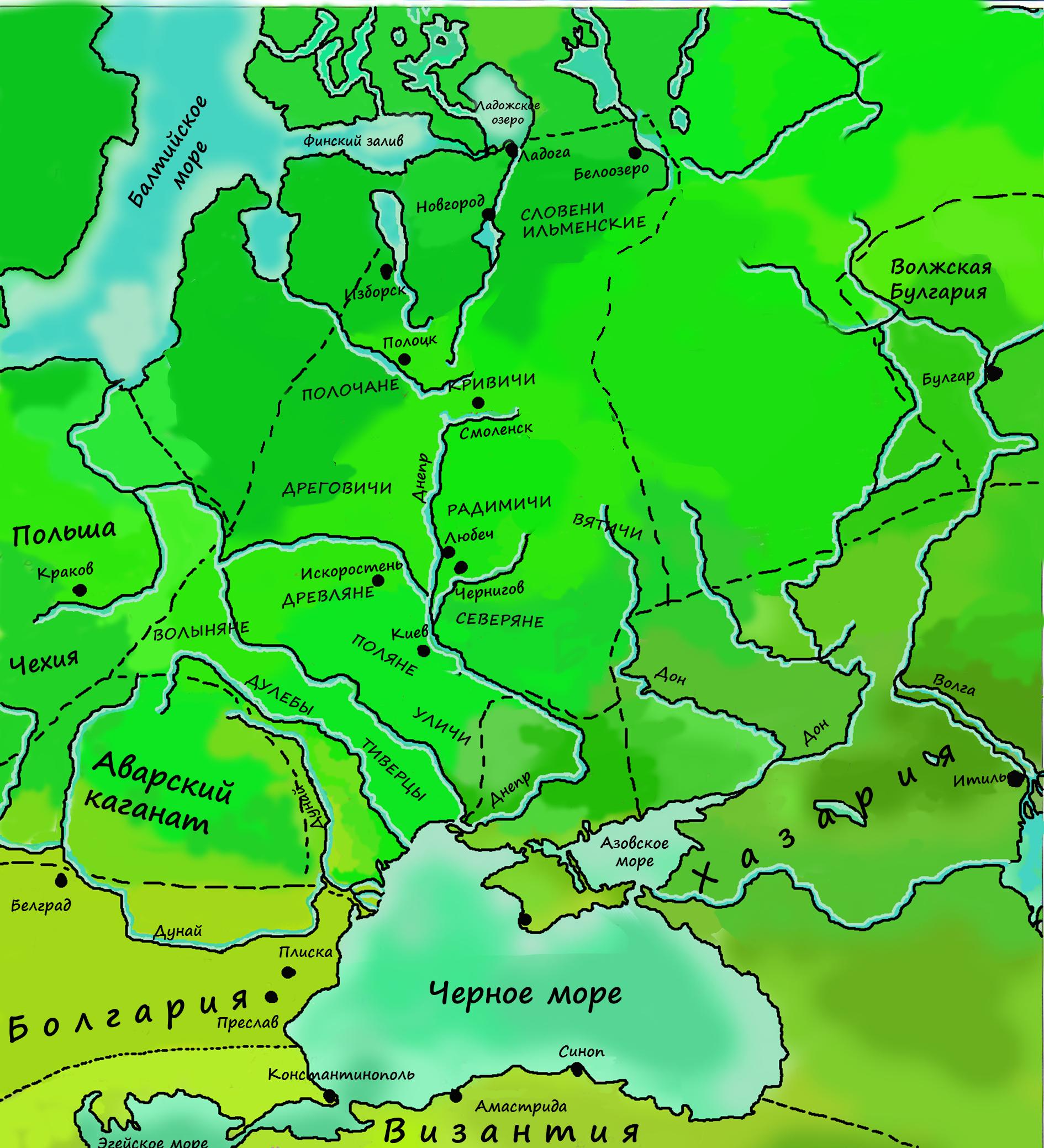 сообщение о восточных славянах