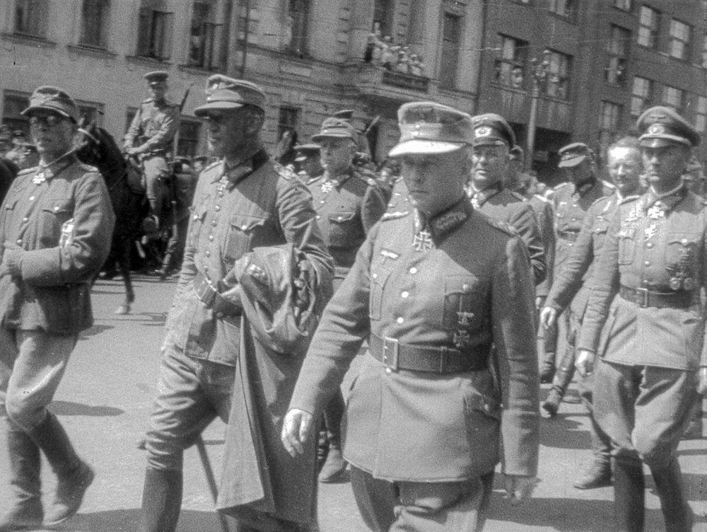 парад пленных немцев в москве