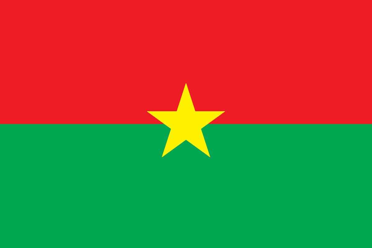 синий флаг с красным крестом