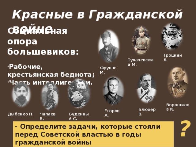 военачальники красной армии в годы гражданской