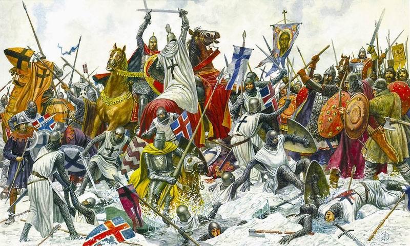 вторжение крестоносцев александр невский