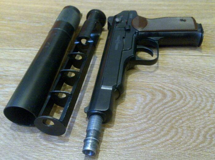 устройство глушителя для оружия