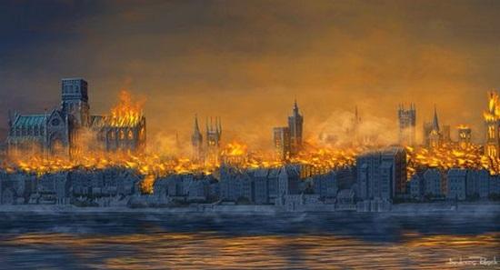 лондонский пожар 1666