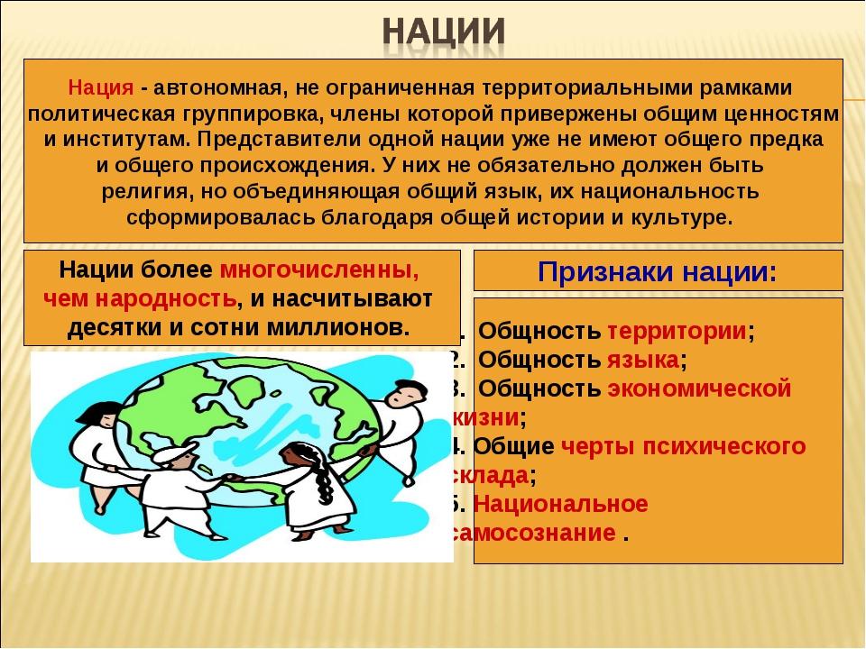 национальность и нация различия