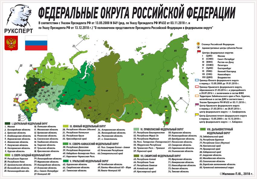 карта военных округов