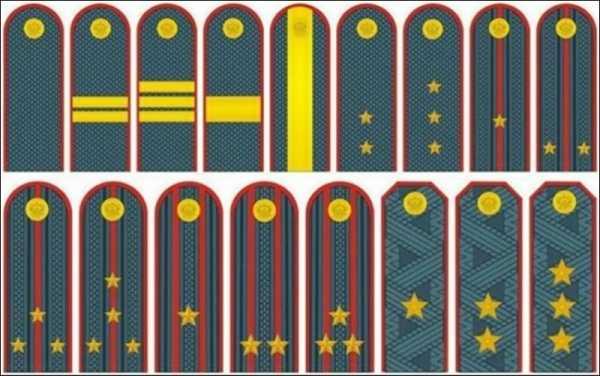 опишите цвета и изображения погон военнослужащих