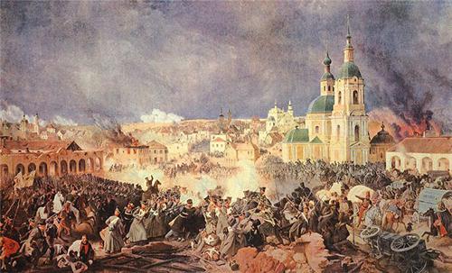 нашествие армии наполеона на россию карта