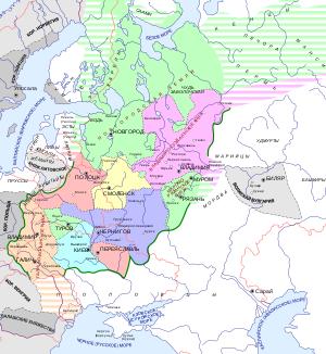 татаро монгольское иго карта