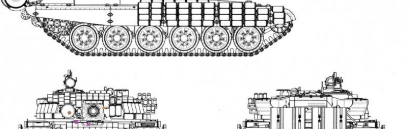 Слабые зоны Т-72