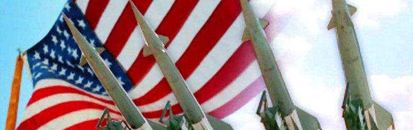 Ракеты на фоне флага США
