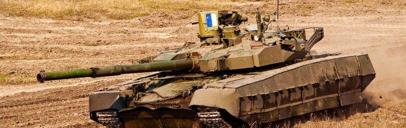 Танк ВСУ в поле
