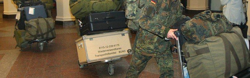Солдаты Бундесвера с амуницией
