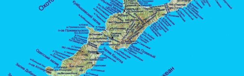 Карта острова Итуруп
