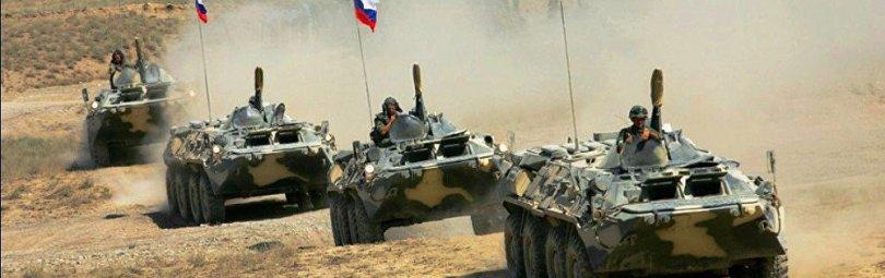 Танки с российскими флагами
