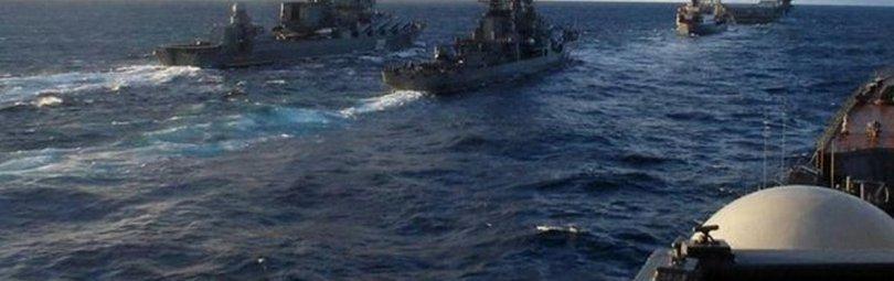 Русские и украинские корабли в Керченском проливе