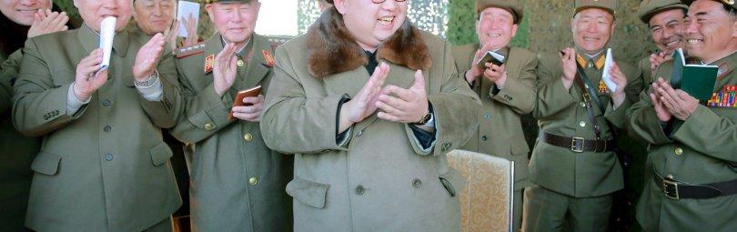 Ким Чен Ын в полевом штабе