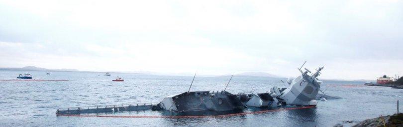 Утонувший корабль норвежского флота