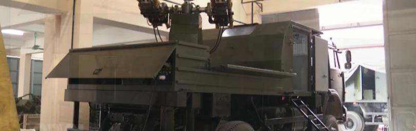 Ракетное оборудование установлено на грузовик