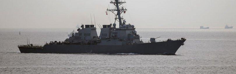 Военное судно в Черном море