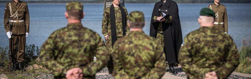 Принятие присяги в эстонской армии