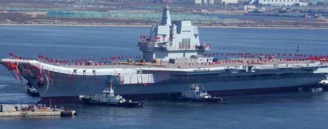 Китайский авианосец Type001A спущен на воду