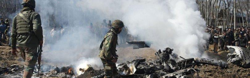 Обломки индийского самолета