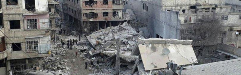 Разрушенный войной сирийский город