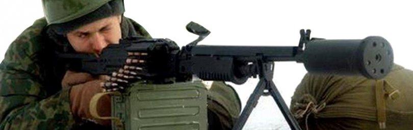 Стрельба из пулемета «Барсук»
