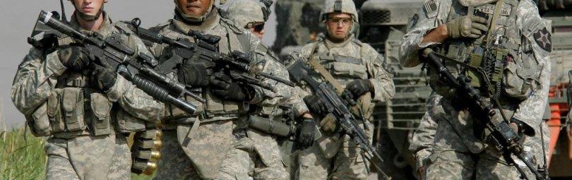 Американские солдаты в полной выкладке