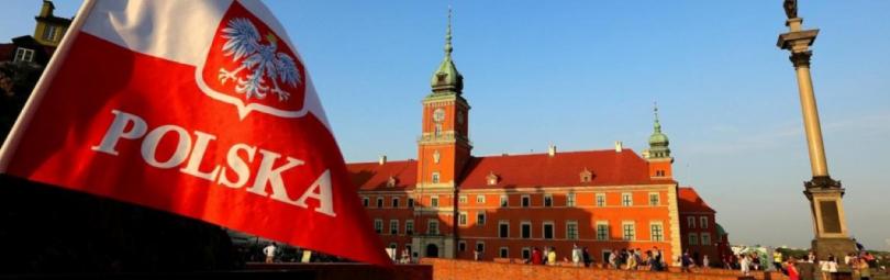 Польский флаг с гербом