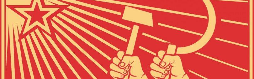 Звезда, серп и молот на флаге