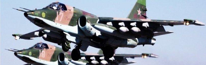 Звено истребителей Су-25