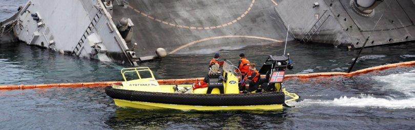 Тонущий норвежский фрегат