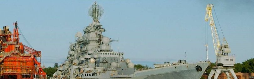 Крейсер «Адмирал Нахимов» в море