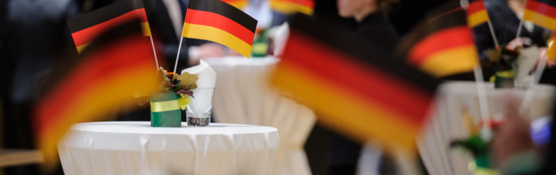 Флаги Германии на конференции