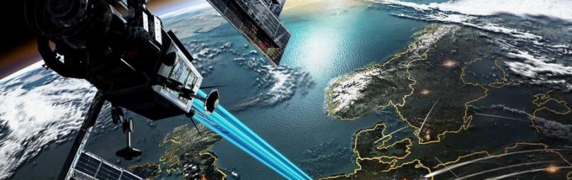 Лазерный удар со спутника