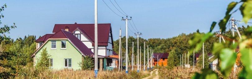 Дачный поселок в Подмосковье