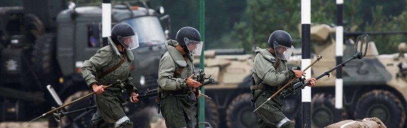 Тренировка российских военных
