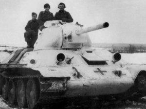 Т34 с немецкой свастикой